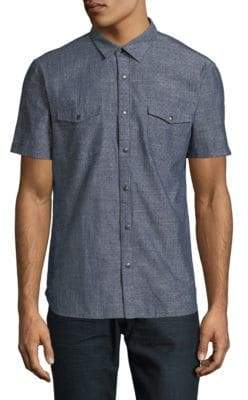 John Varvatos Classic Cotton Short Sleeve Sport Shirt