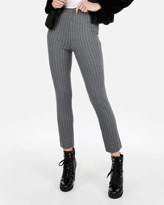 Express High Waisted Striped Ponte Pull-On Skinny Pant