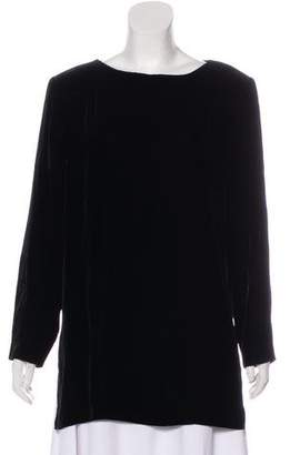 Christian Dior Velvet Long Sleeve Top