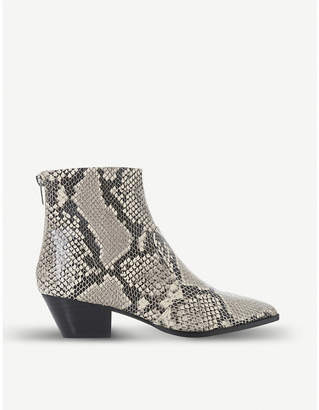 9dc90e142 Steve Madden Cafe reptile-embossed leather ankle boots