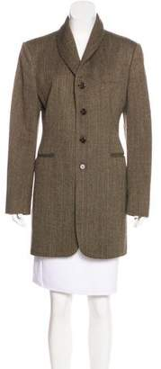 Ralph Lauren Purple Label Wool Structured Coat