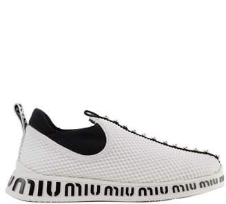 Miu Miu Knit Slip-on Sneakers