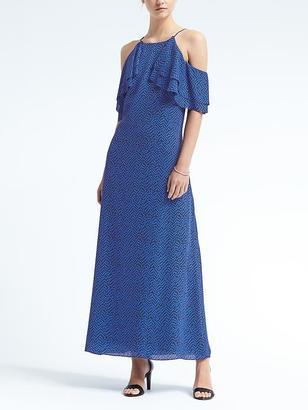 Cold-Shoulder Ruffle Maxi Dress $158 thestylecure.com