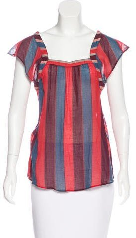 Marc by Marc Jacobs Striped Short Sleeve Top