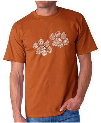 LOS ANGELES POP ART Los Angeles Pop Art Woof Paw Prints Logo Graphic T-Shirt-Big and Tall