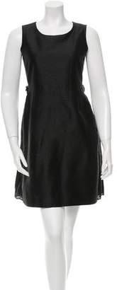 Sacai Sleeveless Pleat-Accented Dress