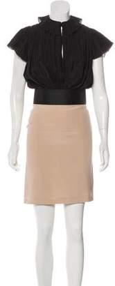 Fendi Silk & Wool-Blend Mini Dress w/ Tags
