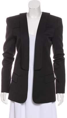 Balmain Open-Front Wool Blazer