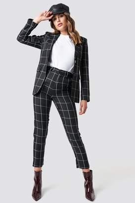 Na Kd Trend Tailored Plaid Suit Pants Black