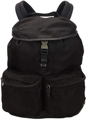 Prada Black Synthetic Backpacks