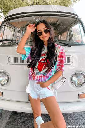 Forever 21 The Rolling Stones Graphic Tie-Dye Tee