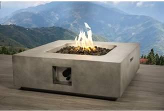 LivingSourceInternational Santiago Concrete Propane Fire Pit Table