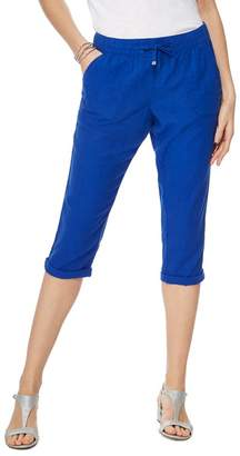 Casual Club The Collection - Bright Blue Linen Cropped Trousers