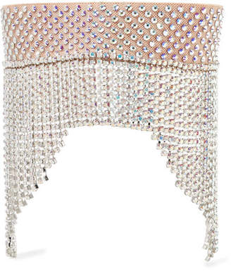 Gucci Fringed Crystal-embellished Headband - Silver