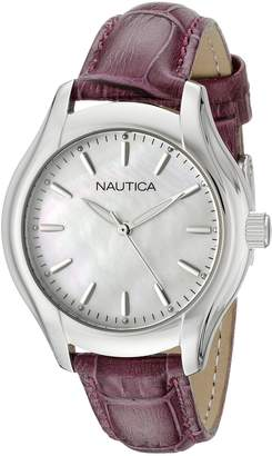 Nautica Women's NAD11004M NCT 18 MID Analog Display Quartz White Watch