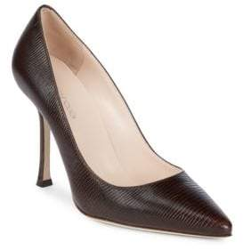 Sergio Rossi Pointed Toe Leather Stiletto Pumps