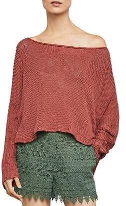 BCBGMAXAZRIA High/Low Boatneck Sweater