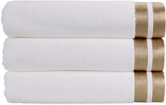 Christy Mode Metallics Cotton Bath Towel Collection – White Gold