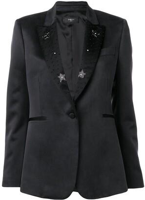 Amiri black star blazer