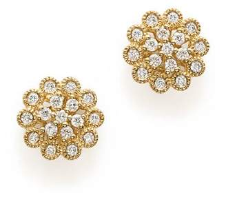 Bloomingdale's Diamond Flower Earrings in 14K Yellow Gold, 0.33 ct. t.w. - 100% Exclusive