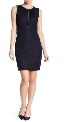 T Tahari Lucille Front Zip Dress