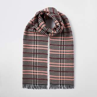 River Island Womens Pink boucle check scarf
