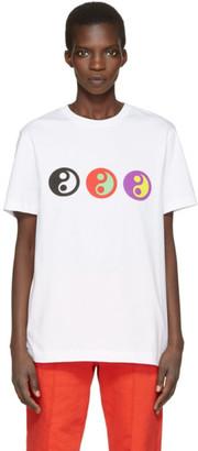Gosha Rubchinskiy White Yin Yang T-Shirt $70 thestylecure.com
