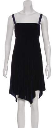 Zero Maria Cornejo Velvet Knee-Length Dress