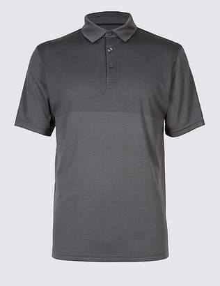 Marks and Spencer Active Quick Dry Polo Shirtwith Stretch