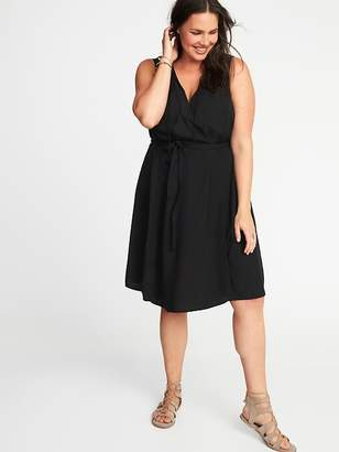 Old Navy Sleeveless Plus-Size V-Neck Swing Dress