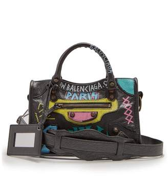 Balenciaga Classic City Mini Graffiti - Womens - Black Pink c314d057dc3bb