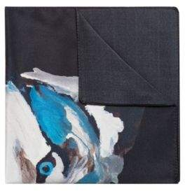HUGO Boss Silk pocket square wolf motif One Size Black
