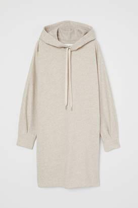 H&M Long Hooded Sweatshirt - White