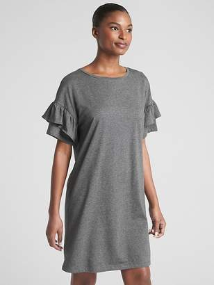 Gap Ruffle Sleeve T-Shirt Dress