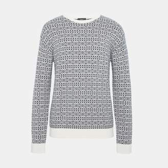 Theory Cashmere Fair Isle Sweater
