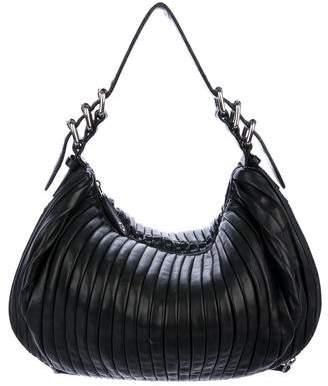Miu Miu Pleated Leather Hobo Bag