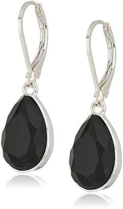 Nine West Silver-Tone and Tear Drop Earrings