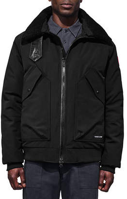 Canada Goose Men's Bromley Shearling-Collar Bomber Jacket