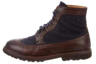 Brunello Cucinelli Wingtip Ankle Boots brown Wingtip Ankle Boots
