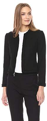 Theory Women's Tweed Flounce Jacket