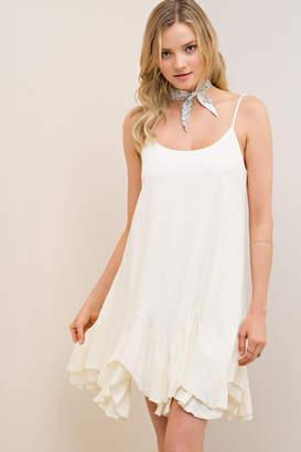 Entro Handkerchief Hem Shift-Dress