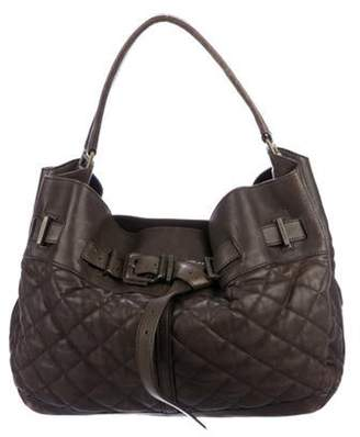 Burberry Leather Enmore Hobo Olive Leather Enmore Hobo