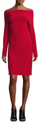 Norma Kamali Off-the-Shoulder Dress, Red $150 thestylecure.com