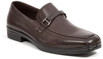 Deer Stags Men's Colby Memory Foam Dress Comfort Classic Runoff Toe Moc Embellished Saddle Bit Slip-On Loafer Men's Shoes