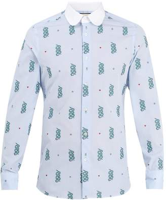 Gucci Motif-jacquard cotton shirt
