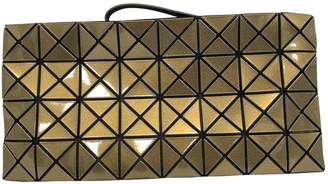 Issey Miyake Gold Synthetic Clutch Bag