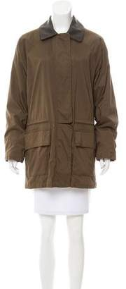 Loro Piana Leather-Accented Jacket w/ Vest