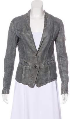 Giorgio Brato Metallic Leather Jacket
