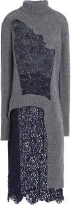 Acne Studios (アクネ ストゥディオズ) - Acne Studios 刺繍入り レースパネル付き ウール セーター