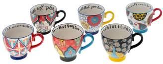 Shiraleah Inspiration Ceramic Mugs (Set of 6)